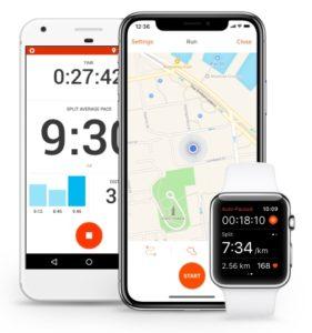 Strava puede ser usada en Smartphones y Smartwatches