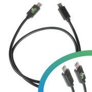 Cable de 240mm. Adaptador Micro USB-B a USB-A para cargar Smartphones