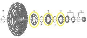 Piñón SHIMANO para cassette CS-M8100 - 14   16   18 dientes imagen 1