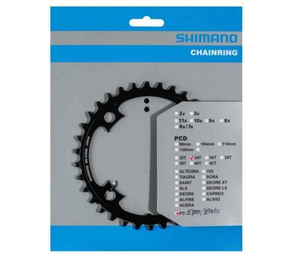 SHIMANO STEPS SM-CRE80 Plato de cadena de 12 velocidades de acero 104 BCD