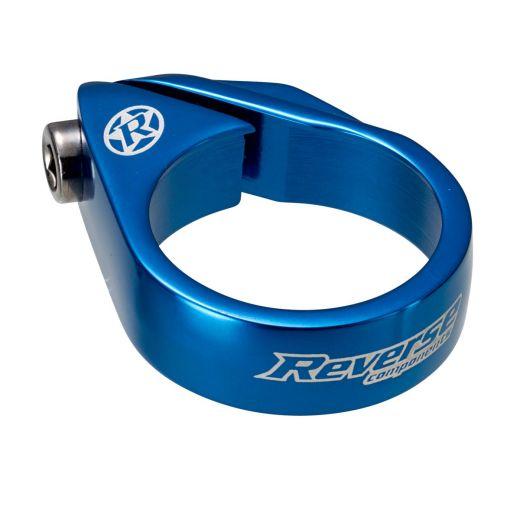 Abrazadera de tija de sillin REVERSE Ø34,9mm Azul