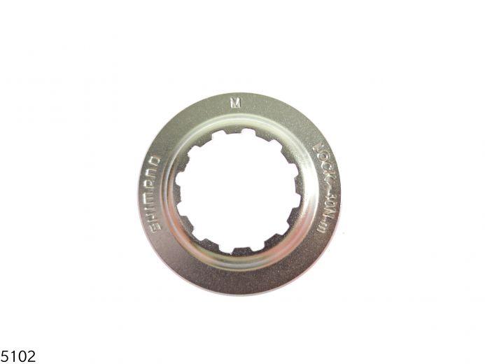 SHIMANO Anillo de cierre centralizado para SM-RT67 - QR | plata Figura 1