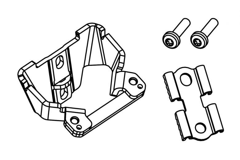 Pieza metálica para fijación de las baterías Bosch Powerpack Classic al cuadro de la eBike - modelo de 2013 - 1270022029
