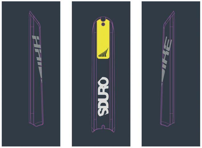 Pegatina Skidplate HAIBIKE Sduro/Xduro Bosch 2018 - Color: limón