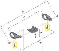 SHIMANO Tornillo de sujeción para el soporte del manillar STEPS Display (M4 x 20mm)