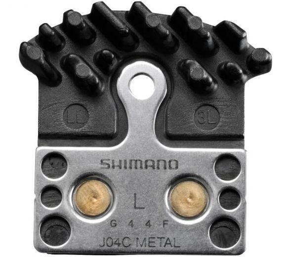 Pastilla de freno de disco SHIMANO J04C de metal con aletas de refrigeración