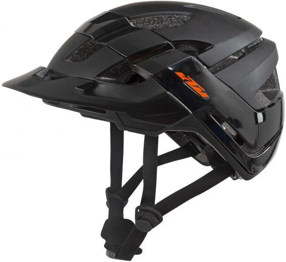 KTM Factory Hybrid, casco bicicleta en negro mate/ negro brillante