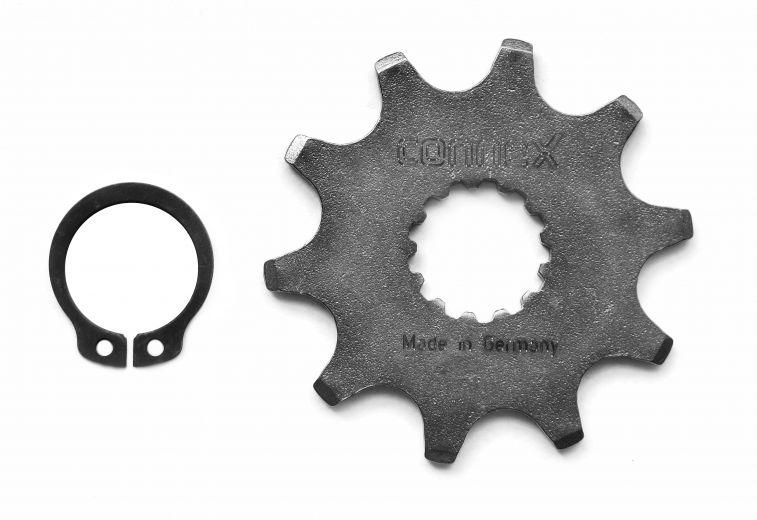 Bicicleta eléctrica con rueda dentada Connex Panasonic 10 dientes incl. anillo de fijación