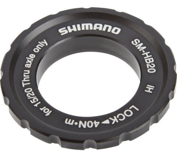SHIMANO SM-HB20 Anillo de bloqueo central para cubos con eje pasante 15/20mm
