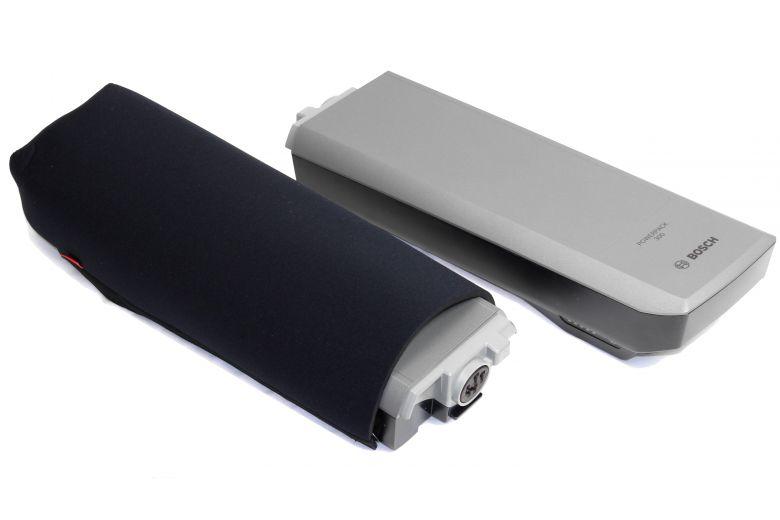 Funda de neopreno FAHRER para baterías Bosch Active/Performance en el portabultos de la eBike
