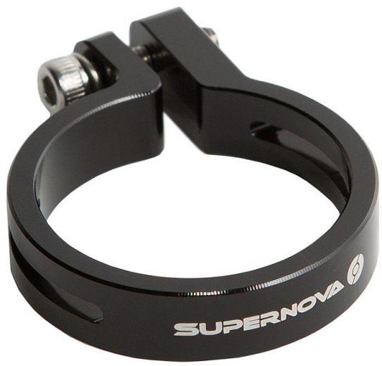 Abrazadera de la tija de la Supernova 31.6mm negra para la luz trasera