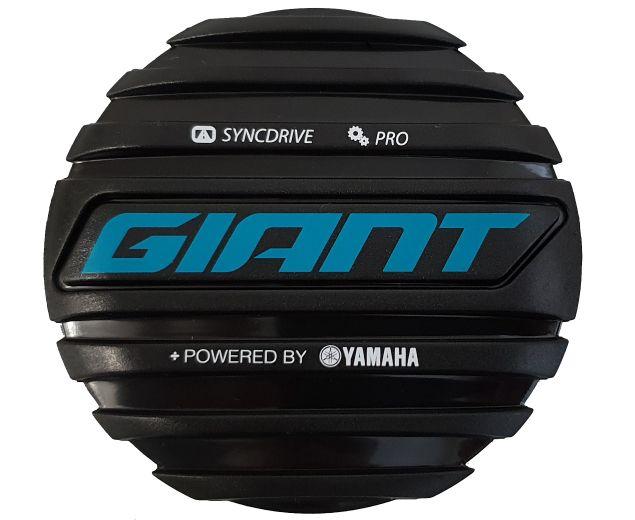 Tapa del motor Giant SyncDrive Pro. Logo Giant en color azul.